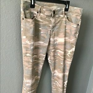 Loft Camo relaxed skinny jeans